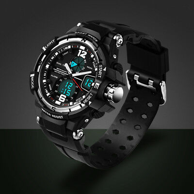 Fashion Men Digital Military Sports Date Quartz Wrist Watch WATERPROOF Lot #UK