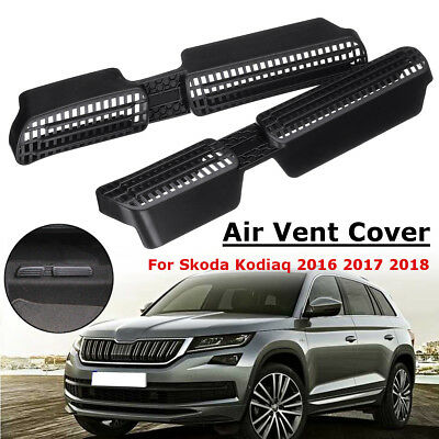 2x Seat Under AC Heater Air Condition Grille Vent Cover For Skoda Kodiaq 2016-18
