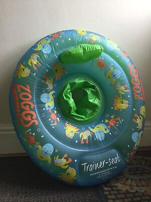 Zoggs Swimming Trainer Seat Ring Inflatable Water Aid - 3-12 months, Green