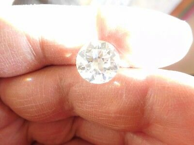 Fiery 5.77 ct White H - I Color Round Loose Moissanite VVS1 11.84 mm