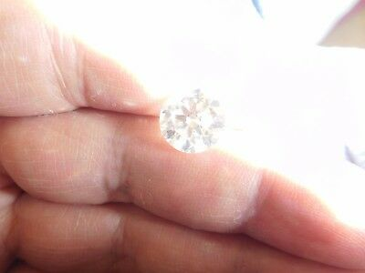 Fiery 4.18 ct White H - I Color Round Loose Moissanite VVS1 10.60 mm