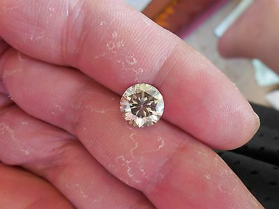 Fiery 2.73 ct Yellow Tint White I-K Color Round Loose Moissanite VVS1 9.20 mm