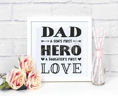 If Dad Can't Fix It Vinyl Decal Stickers Box Frame Tools Birthday Fathers Day Furniture Stickers