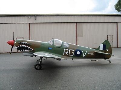 Aircraft 75% scale replica Spitfire ..... exactly as per a real Mark VIII