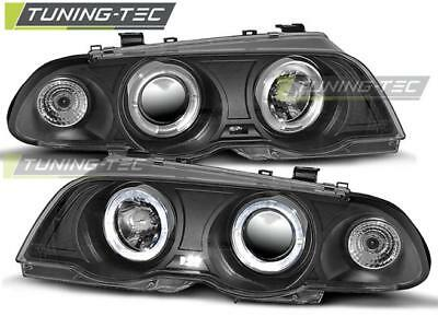 Coppia Fari Anteriori Bmw E46 05.98-08.01 Angel Eyes Black Look*2058