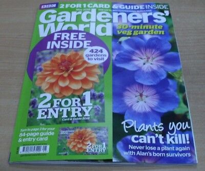 BBC Gardeners' World magazine May 2018 Includes 2 for 1 Garden Card & Guide
