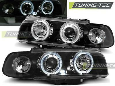 Coppia Fari Anteriori Bmw E38 06.94-08.98 Angel Eyes Black Look*2086