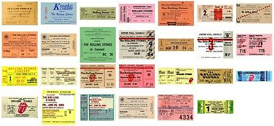 THE ROLLING STONES - MUSIC ARTIST Reproduction CONCERT TICKETS - Individual Sale