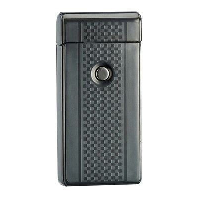 New Rechargeable Electric Cigarette Lighter Pulse Arc Windproof Flameless Metal