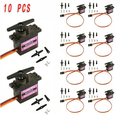 10Pcs MG90S Micro Metal Gear 9g Servo For RC Model Airplane Helicopter Boat Car
