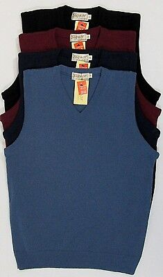 Mens Knitted Vest V-Neck Tank Top Slipover Sleeveless Tanktop Sweater Jumper 80