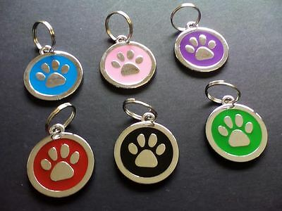 Dog Tags Paw Personalised Deep Engraved Pet Tags Disc Quality Puppy Cat ID Tags