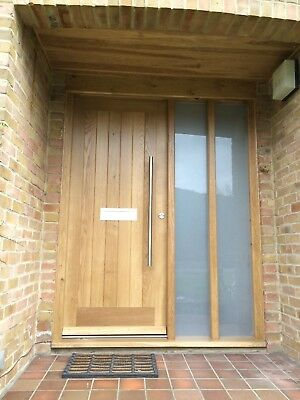 Solid Oak Front Door With Side Lights Made To Measure