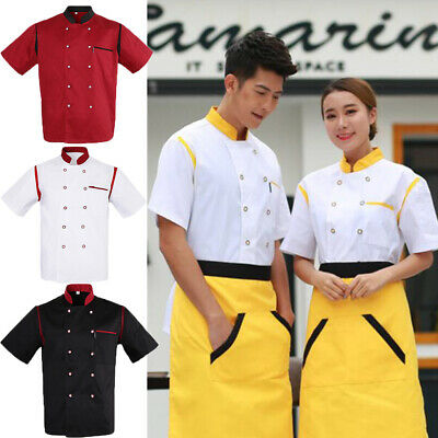 Chef Jacket Unisex Executive Chef Coat Chefwear Mesh Catering Waiter Uniform