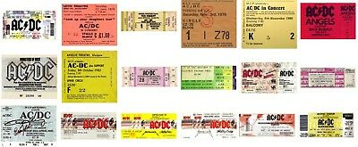 AC/DC - MUSIC GROUP Various Reproduction CONCERT TICKETS Individual Sale ACDC