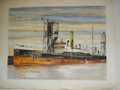 Original watercolour paintings of ships 'Uskmouth', 'Uskport' and 'Diadema'