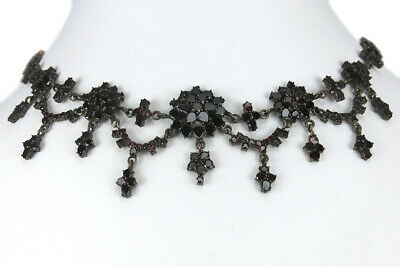 Collier Granat insg ca. 17,0 ct. Double antik ca. 1900 [BRORS 13856]