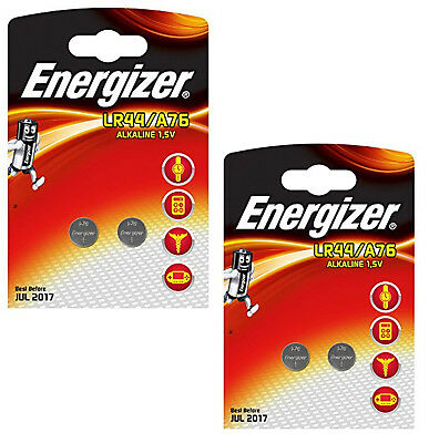 Genuine Original 4X Energizer Lr44 Alkaline 1.5V Coin Battery 357 Ag13 A76 2Pack
