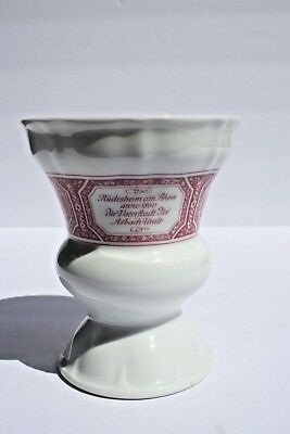 Vintage Heinrich Germany Porcelain Coffee Vase Commemorating Asbach Uralt