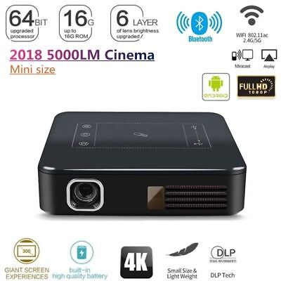 HD 4K DLP HD Home Theater Projector Wifi 1080P Mini Android Cinema 2G+16G
