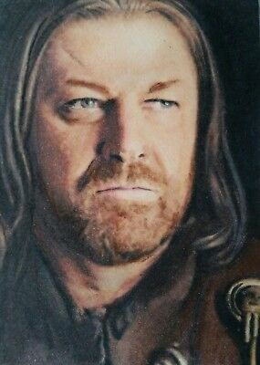 Original Ned Stark Game of thrones aceo sketch card watercolour painting