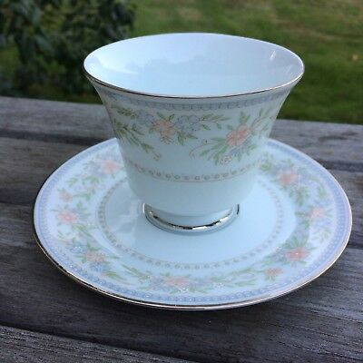 Vintage Hutschenreuther Teacup And Saucer: Christine Pastel Floral Tea Cup