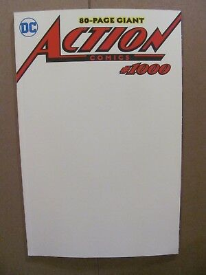 Action Comics #1000 DC Comics Superman Blank Variant Cover 9.6 Near Mint+