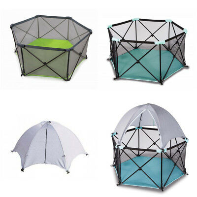 Summer Infant Pop 'n Play Playpen Deluxe Ultimate Indoor Outdoor UV Sun Canopy