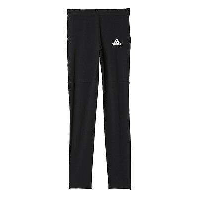 adidas ID girls black cotton full length leggings. Various sizes!