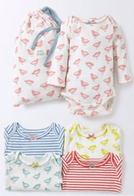 Ex Baby Boden Girls Bird Seagull Bow Bodysuits Vests Age Newborn 0 3 6 12 18