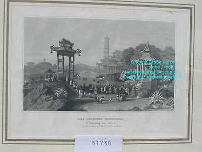 51730-Asien-Asia-China-NANKING-NANJING-Stahlstich-Steel engraving-1860
