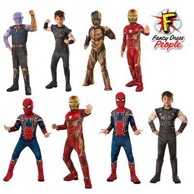 Avengers Infinity War Superhero Costume Classic Deluxe Kids Child Movie Outfit