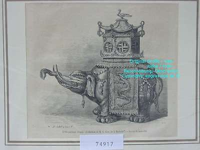 74917-Asien-Asia-China-Brule parfums chinois-T Holzstich-Wood engraving