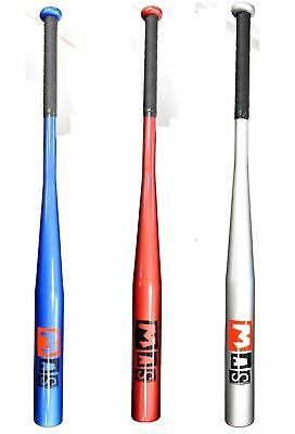 MAS Aluminium Baseball Bat - Red, Blue & Silver Metal Bat