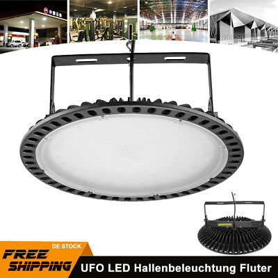 200W Schlank UFO LED Hallenleuchte Industrie Lampe High Bay Light Flutlicht 220V