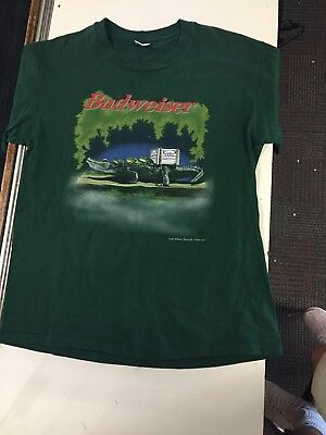Vintage mens xl 1996 90s budweiser frogs bud light beer frogs vintage mens xl 1996 90s budweiser frogs bud light beer frogs crocodile t shirt aloadofball Image collections