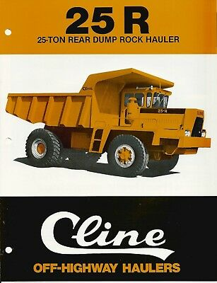 Cline 25R Off-Highway Rock Hauler Sales aid brochure 1978