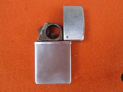 Vintage Nimrod Commander Brushed Chrome Cigar Lighter 1950s