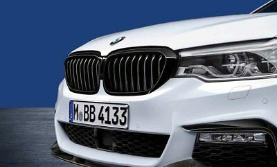 New Genuine BMW G30/G31 M Performance Black Kidney Grilles