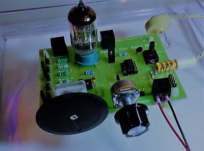 5 band Crystal/ valve Tube Radio with Earpiece DIY KITwith Amp and Speaker