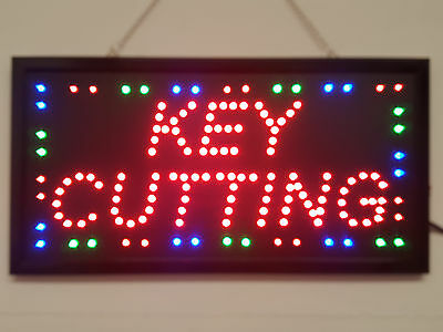LED Flashing KEY CUTTING sign for shop business door hanging window