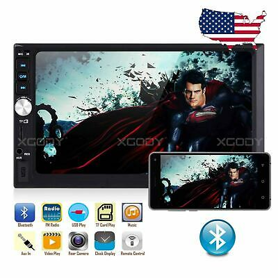 """7"""" Car Stereo Radio MP5 Player Bluetooth Touch Mirror Link USB AUX FM 2 DIN US"""
