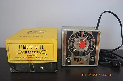 Photographic Timer, Time-O-Lite Master Model M-49, Vintage, In Original Box.