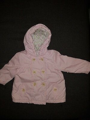 girls 9-12 months light jacket hooded coat floral next day party smart