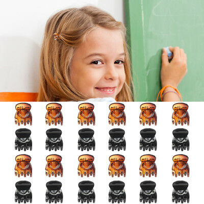 24Pcs Girls Hair Claw Clip Styling Plastic Mini Clip Claw Clamp Hair Accessories