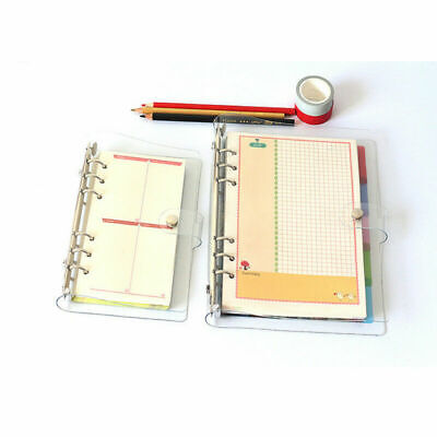1x A5/A6/A7 Clear PVC Cover Loose Leaf Ring Binder File Cover Folder Waterproof