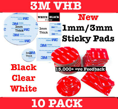 3M Double Sided Sticky Pads Foam Strong Mounting Round Glue Self Adhesive Tape
