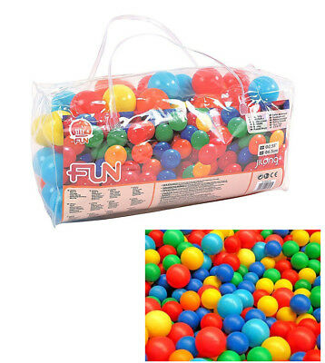 SET PALLINE GIOCO PER BAMBINI IN PLASTICA COLORATE PZ.100 JILONG mod. SOFT-FEEL