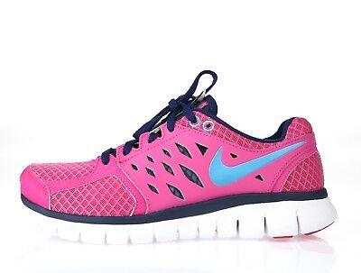 130d0eb3d8f0 WOMENS NIKE FLEX 2013 Run Pink Running Sneakers Sz. R-6 L-6.5 ...