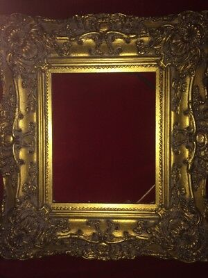 Original Antique 19th Century Detailed Multi Tier Gilt Gesso Frame Rococo Style